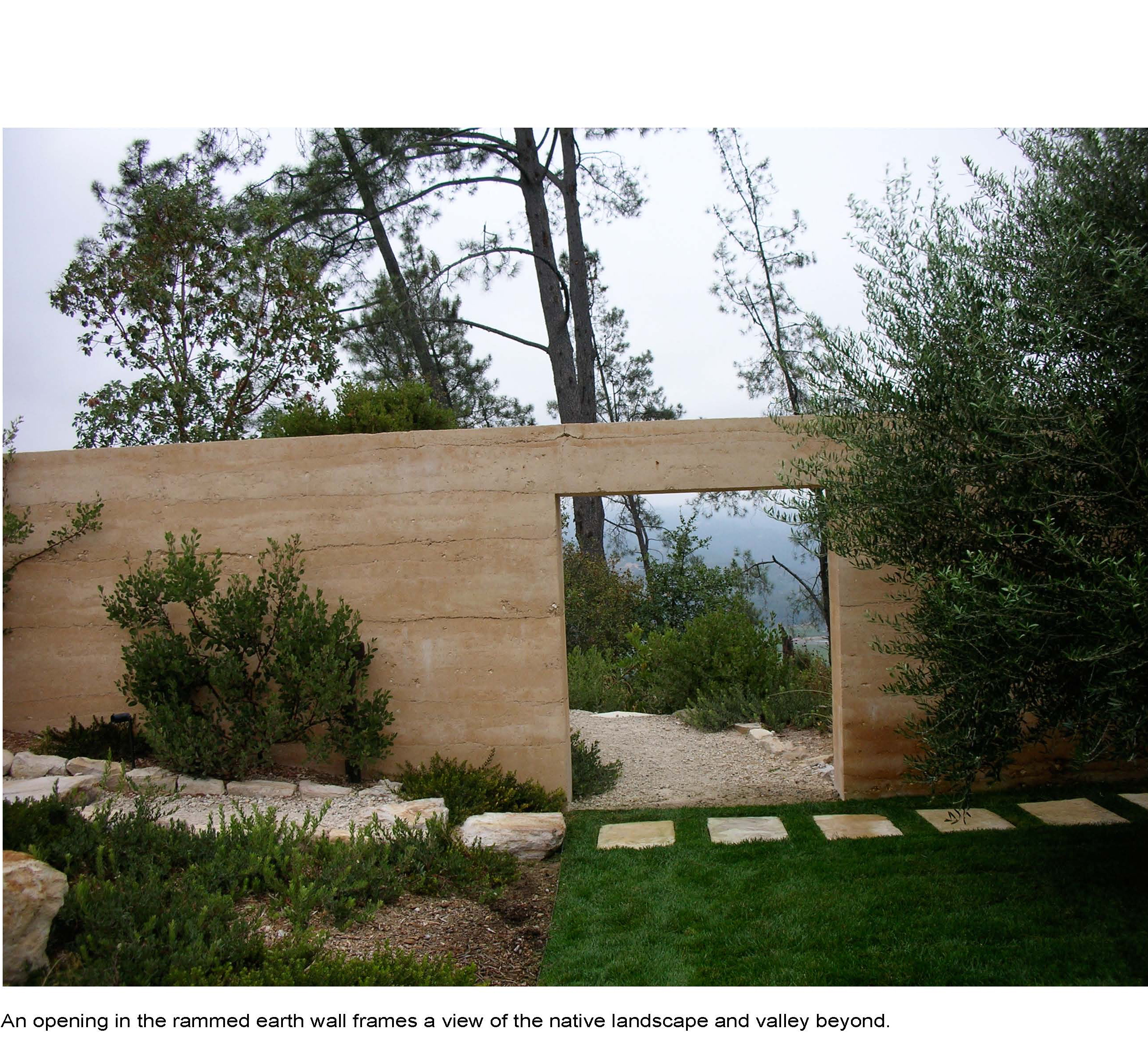napa valley rammed earth house modernacular. Black Bedroom Furniture Sets. Home Design Ideas